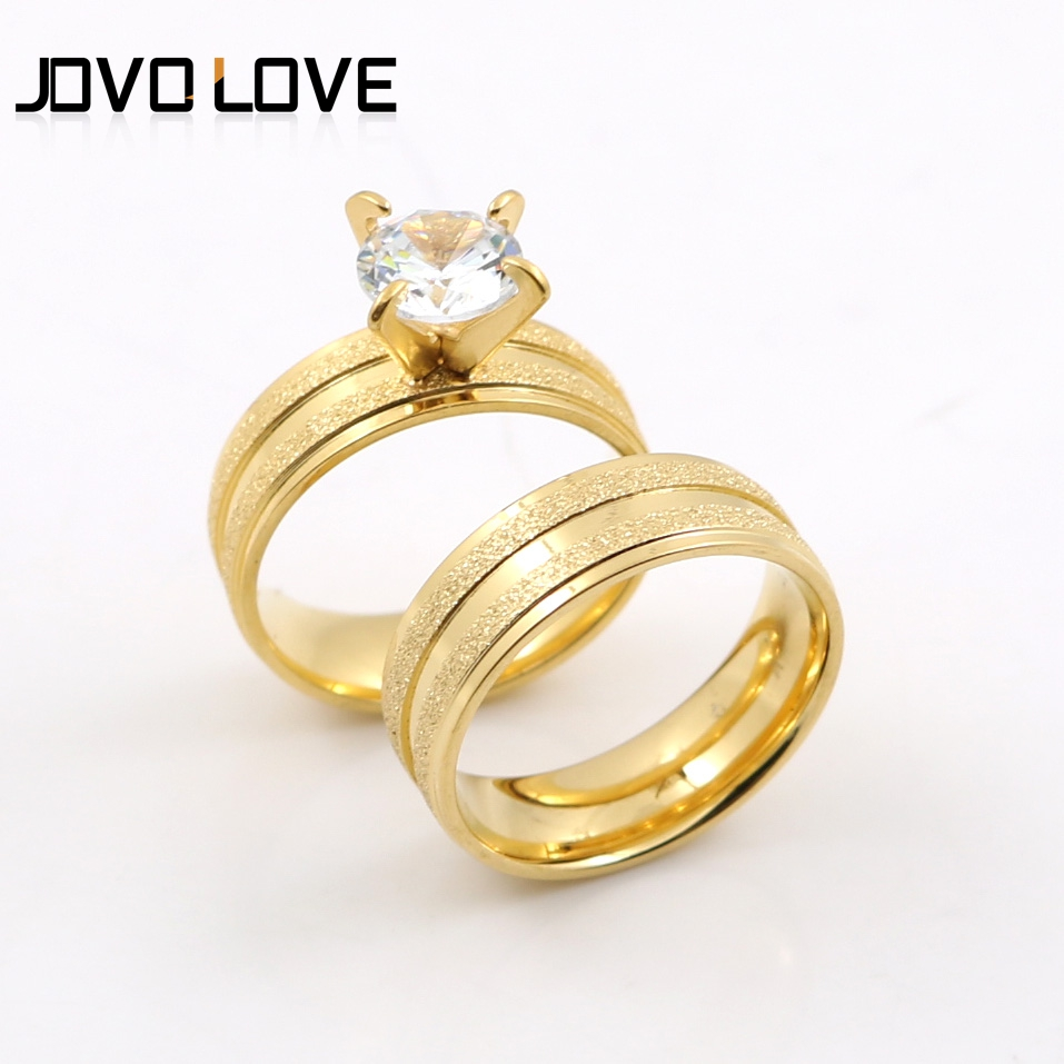 JOVO USA Size 6 9# Romantic Promise Love Wedding Rings In