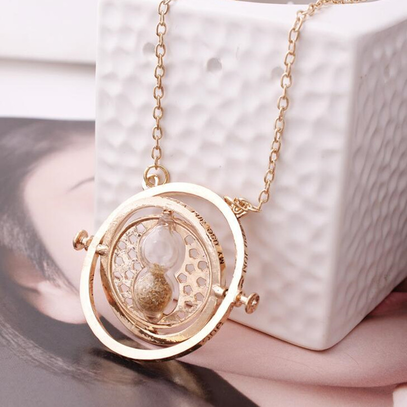 Hot Sell Harry time turner Potter necklace hourglass vintage pendant Hermione Granger for women lady girl
