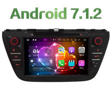 "8"" Quad Core Android 7.1.2 2GB RAM 4G Wifi SWC DAB+ BT Car DVD Player Radio Stereo For Suzuki S-Cross SX4 2014 2015 2016 2017"