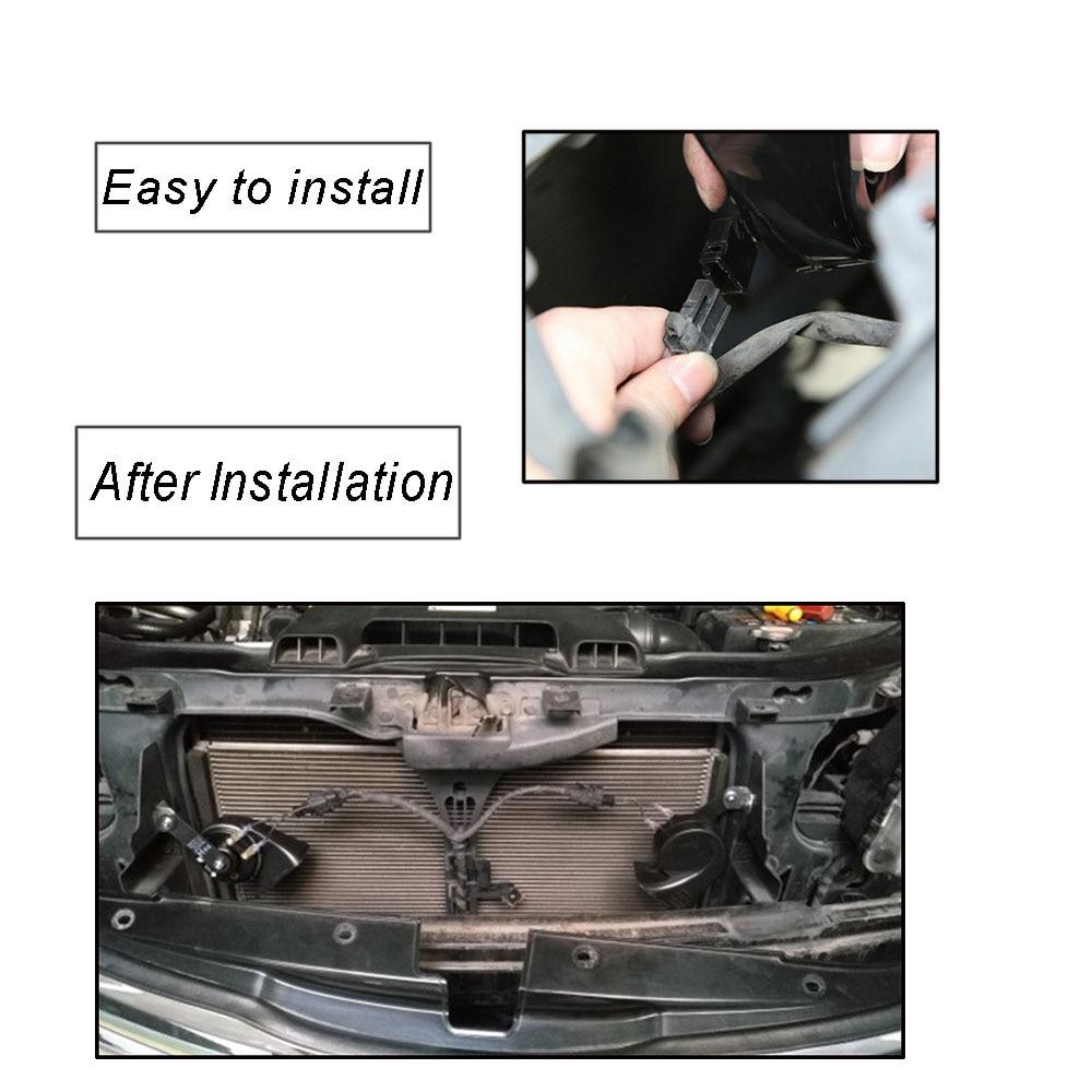 12 V color negro motocicleta VXH1002B de sonido extra/ño cami/ón metagio Bocina el/éctrica universal para coche para coche