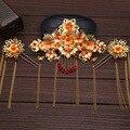 Chino vestido demuestra la ropa accesorios para el cabello tocado traje traje de boda Chino dragón Corona accesorios de la boda