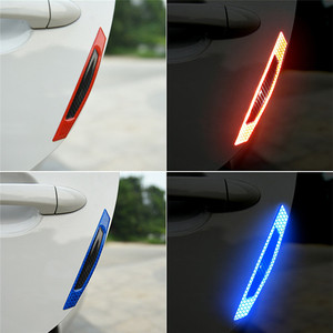 Image 4 - 4Pcs Car SUV Body Door Reflective Safety Durable Portable Convenient Useful Warning Anti Collision Sticker Protector#291259