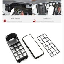 2 pcs Nouveau ABS Non-tissé style De Voiture Spécial Externe filtre à air cleaner Case Couverture Autocollant Pour Volkswagen POLO hayon 2011-16