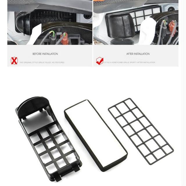 Polo anti-pm2.5 assembléias 2 pcs filtro de ar ar mais limpo limpeza externa case capa adesivo estilo do carro especial para volkswagen