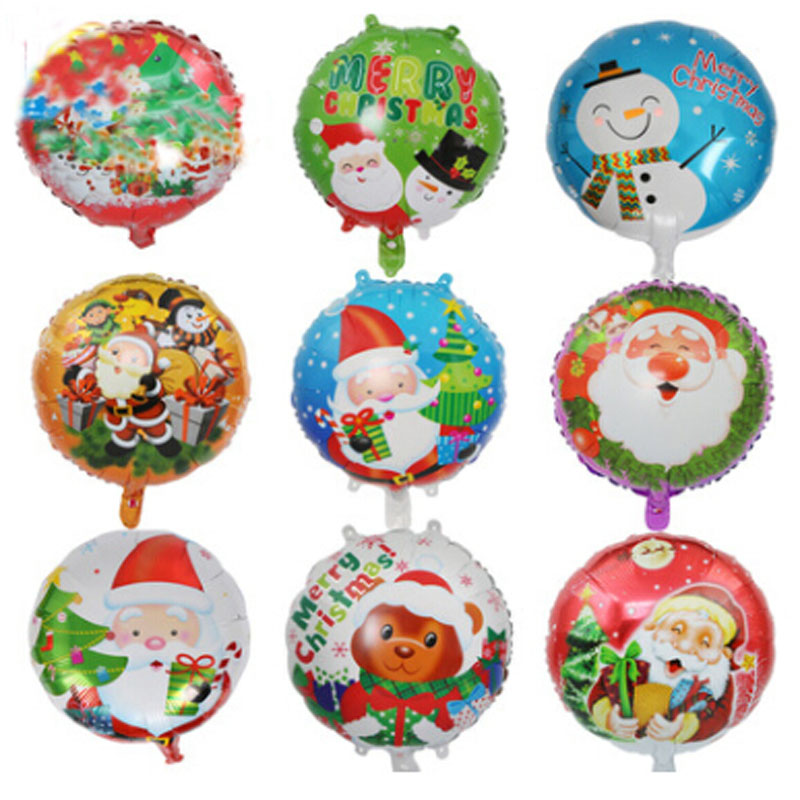5 Types Cute Christmas Balloon Santa Claus Foil Air
