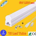 Retail T5 Integrated LED tube light 6W 12W Led fluorescent lamp 300mm 600mm  AC220V led tubes warranty 2 years