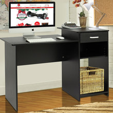 Computer-Desk Drawer Black High-Quality with US Integrated-Melamine-Board