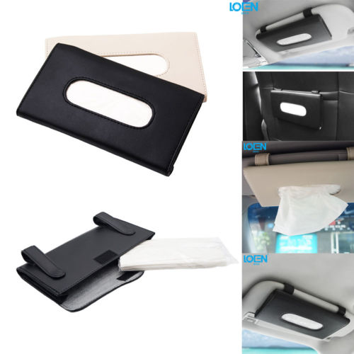 Car sunshade leather hanging style high-end napkin tissue box interior deco AU