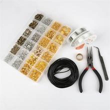 24 그리드 철 보석 도구 세트 단일 반지/랍스터 걸쇠/꼬리 체인/클립 버클/드롭 키트 목걸이 팔찌 재료 용품