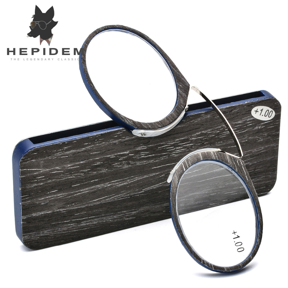 Wooden Stripe SOS Pince Nez Style Nose Resting Thin Pinching Optics Reading Glasses for Old Men Women +1.0 +1.5 +2.0 +2.5 +3.0