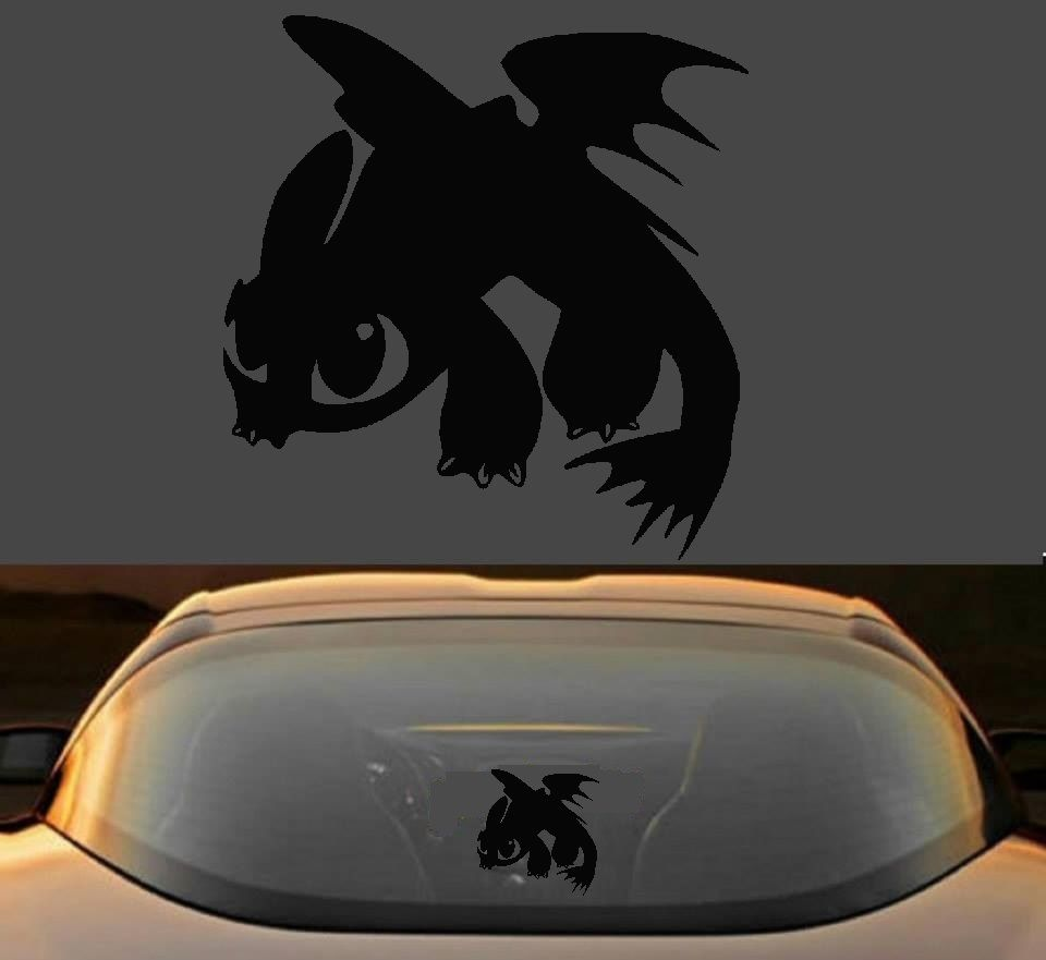 6 HOW TO TRAIN YOUR DRAGON 2 TOOTHLESS 7 YEAR VINYL DECAL STICKER