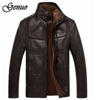 Кожаные куртки мужские пальто 5XL брендовая Высококачественная верхняя одежда из искусственной кожи мужская деловая зимняя куртка из искус...
