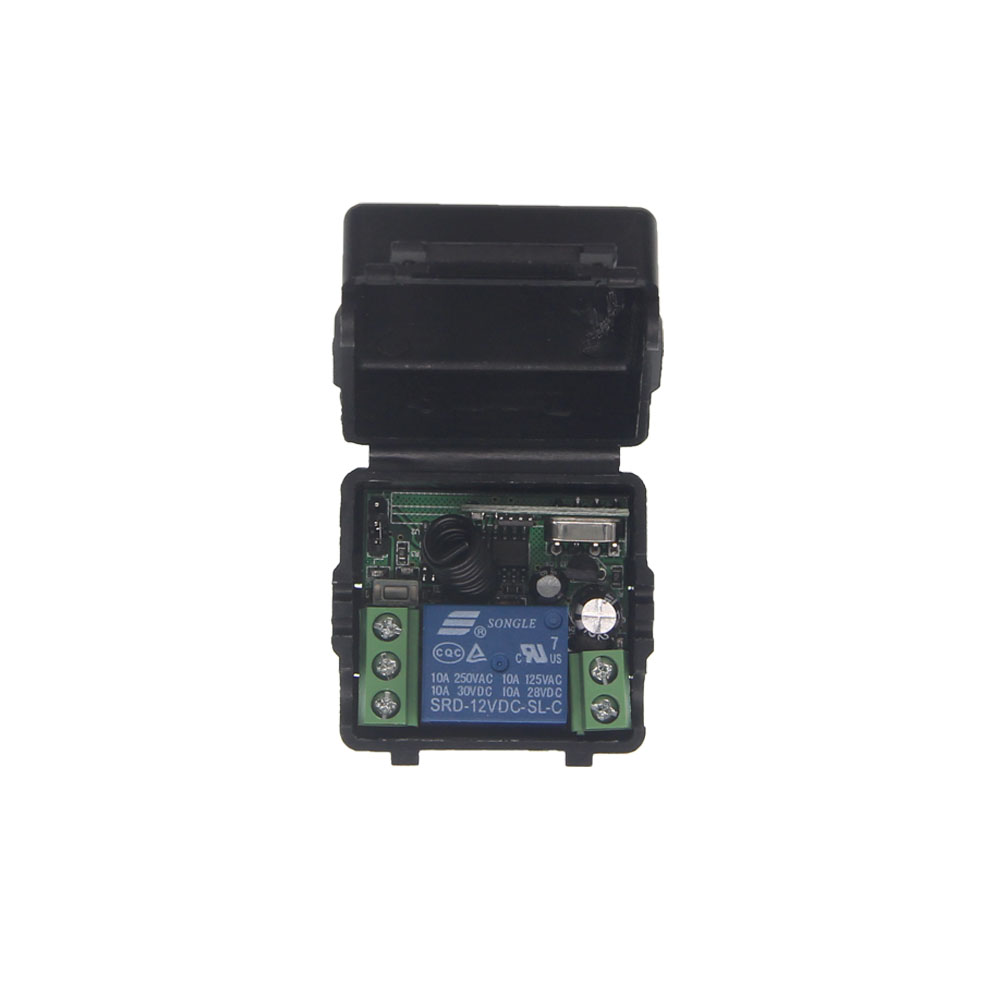Mini Size DC 12V 1CH 1 CH 10A Wireless Remote Control Light Motor Pump Switch Receiver ,315/433 MHz dc 9v 12v 24v 1 ch 1ch rf wireless remote control led light motor pump switch system receiver 315 433 mhz