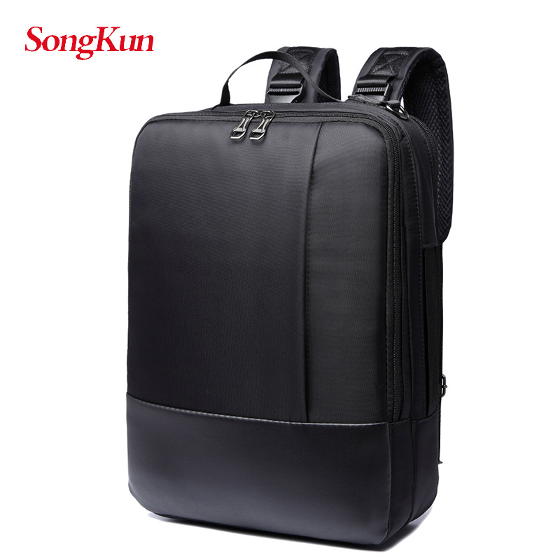купить SongKun Casual Shoulder Bag Travel Laptop Backpack Men Oxford Pu Leather Multifunctional Student School Bags 2017 High Quality по цене 1504.1 рублей