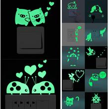 Luminous Wall Sticker Cartoon Pattern Home Luminous Switch Sticker Easy To Operate Home Decoration Beautiful Quick Delivery