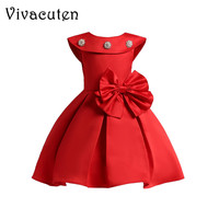 2018 Summer Girls Dress For Girls Wedding Bowknot Girl Dress Elegant Princess Party Pageant Formal Gown
