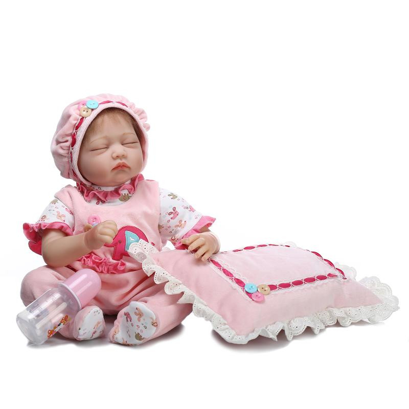 new style lifelike Silicone reborn baby doll girls newborn babies accompany sleeping doll Christmas birthday gift brinquedos toy 50cm soft body silicone reborn baby doll toy lifelike baby reborn sleeping newborn boy doll kids birthday gift girl brinquedos