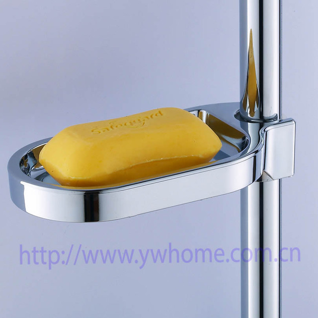 Plastic Shower Soap Box Soap Holder Pallet Shower Rod Sliding Bar Soapbox  ABS Chrome Bathroom Product