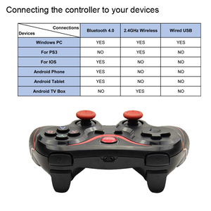 Image 5 - Terios T3 kablosuz oyun denetleyicisi Gamepad Bluetooth 3.0 Joystick cep Tablet telefon TV kutu tutucu