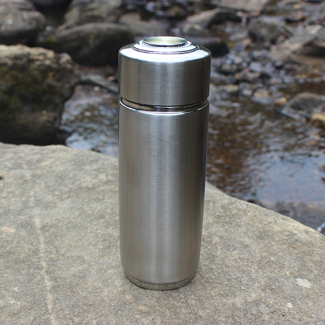 Portable Alkaline Water Ionizer Bottle 304 Stainless Steel with replaceable filter  Nano Energy Flask Alkaline Water Bottle