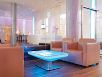 H46 Led Illuminated Furniture Dining Table For 4 People STUDIO LED Led Coffee Table For Bar