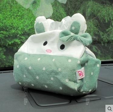 Cute Cartoon Car Headrest Cushion Auto Car Neck Pillow Car Bone Pillow Auto paper towel box Automobile interior trim products