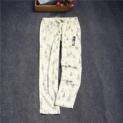Женские брюки; длинные брюки; тканые хлопковые брюки для сна; женские брюки - Цвет: Gray pine tree