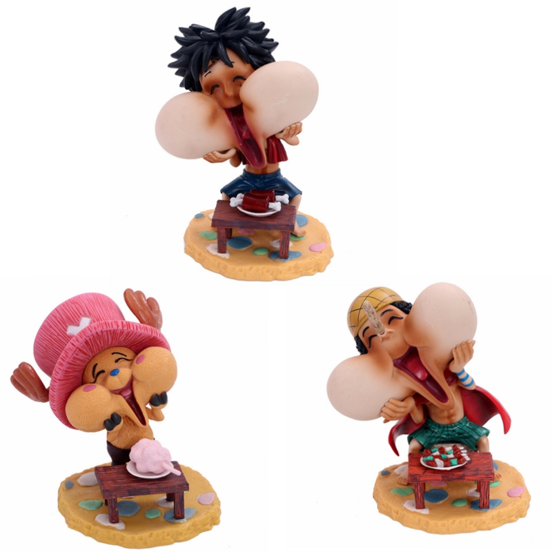 Us 12 54 5 Off Anime Q Version One Piece Pvc Action Figure Monkey D Luffy Ony Tony Chopper Usopp Kawaii Action Figure Doll Model Toys Juguetes In