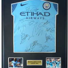 f7763b47 Kun Aguero Raheem Sterling signed autographed soccer shirt jersey come with  Sa coa framed Manchester City