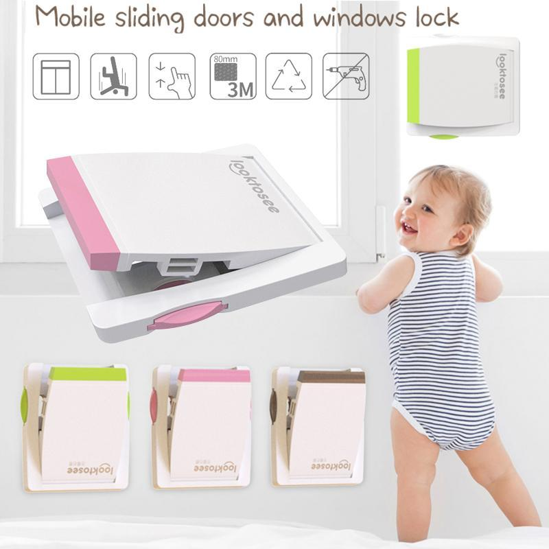 5PCS Door Window Children Protection Locks Wardrobe Toddler Kids Baby Safety Locks Cover Free shipping 3 Colors Hot sale A3 2016 hot sale 3 colors 100