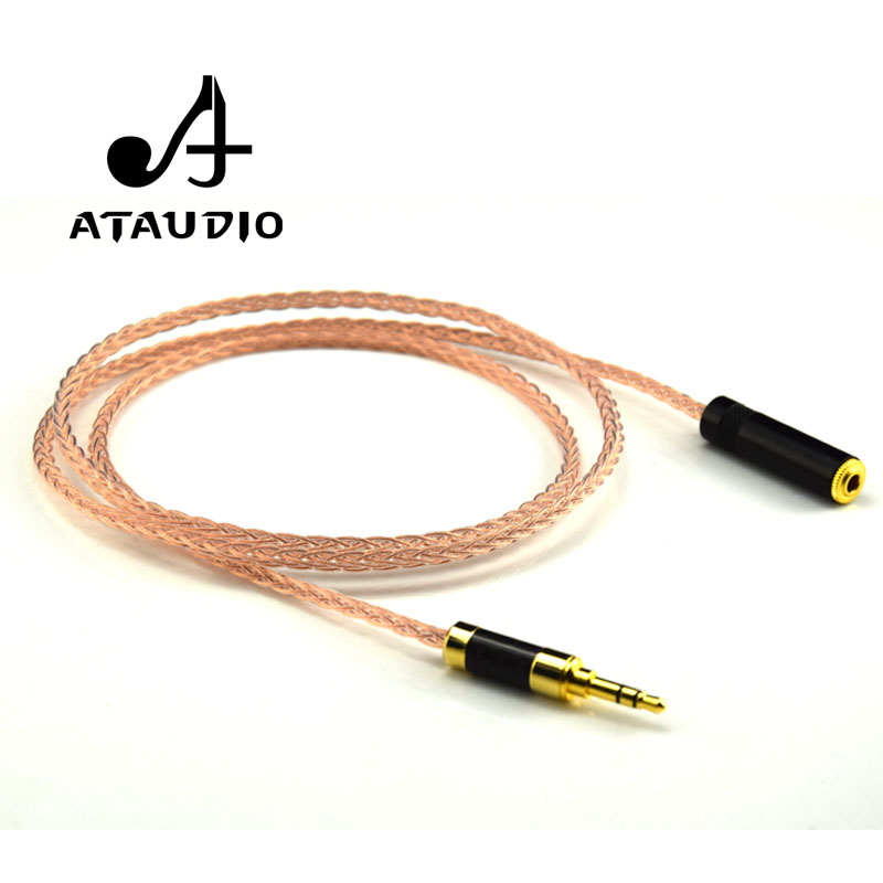 ATAUDIO Hifi 3.5mm Audio Extension Cable 7N OCC HIFI 3.5MM Male to Female Cable