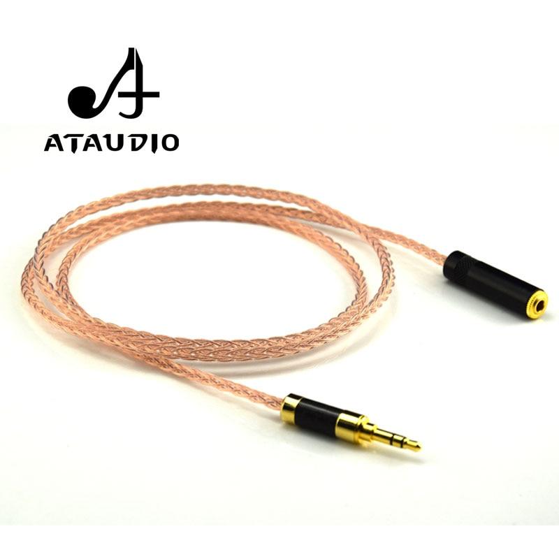 ATAUDIO Hifi 3.5mm przedłużacz Audio 7N OCC HIFI 3.5 MM kabel męski na żeński na AliExpress - 11.11_Double 11Singles' Day 1