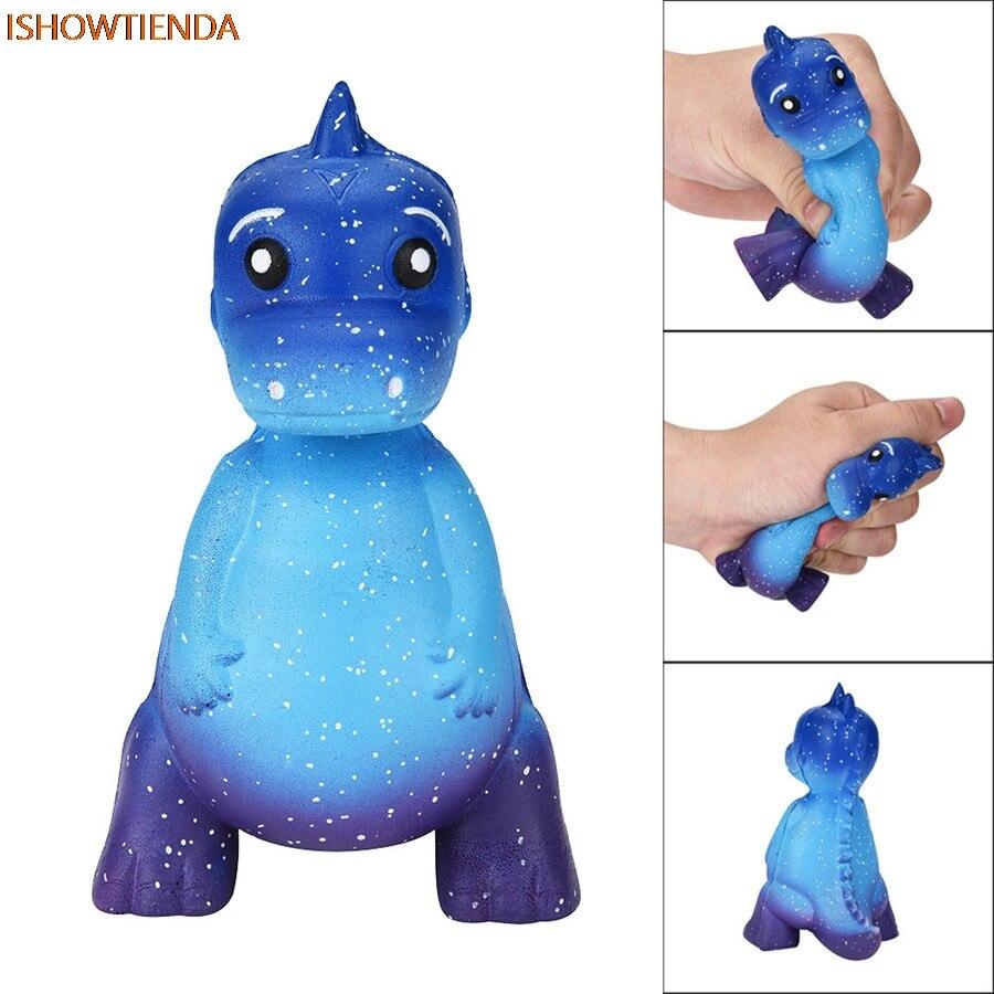 Galaxy Dinosaur Cute Rex Jumbo Squishy Jumbo Scented Cream Super Slow Rising Squeeze Toys PU Galaxy Cute Gift Toys Dropship