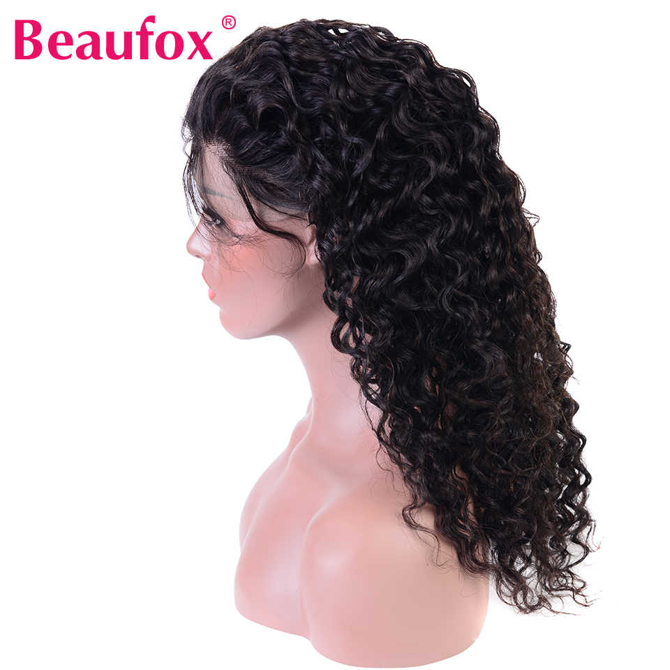 Beaufox 360 Lace Frontal With Baby Hair Brazilian Water Wave Human Hair 360 Frontal Closure Remy Can Be Bleached