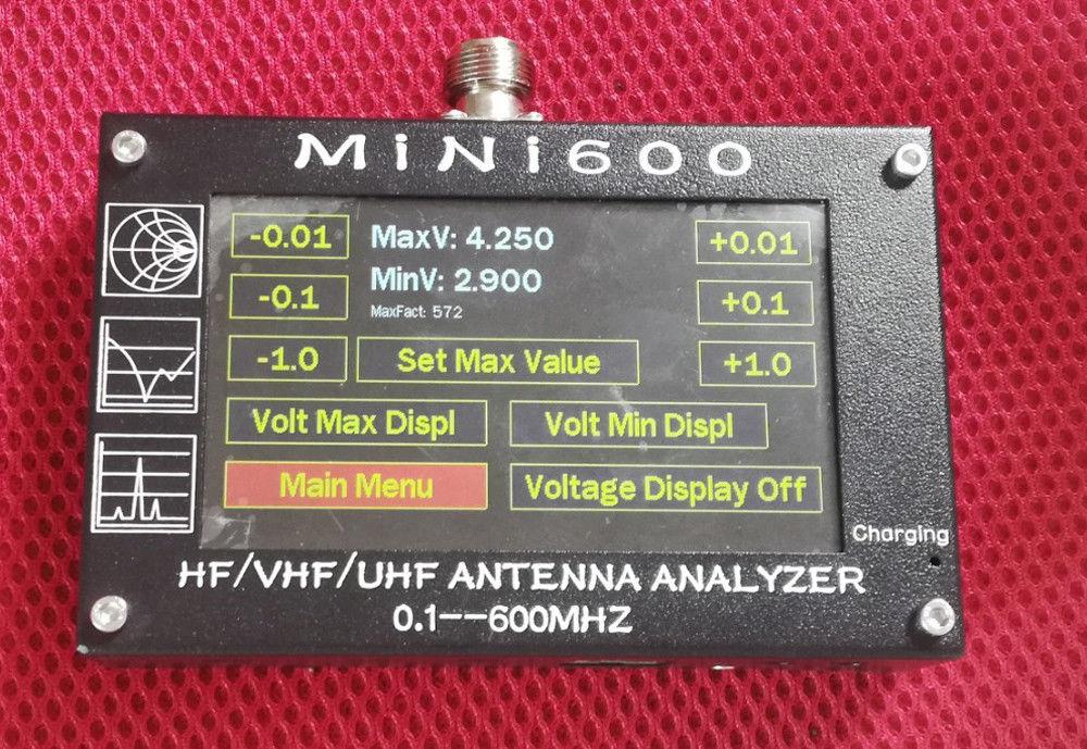 DYKB 0 1 600MHz Antenna Analyzer HF VHF UHF ANT SWR Antenna Analyzer Meter digital display