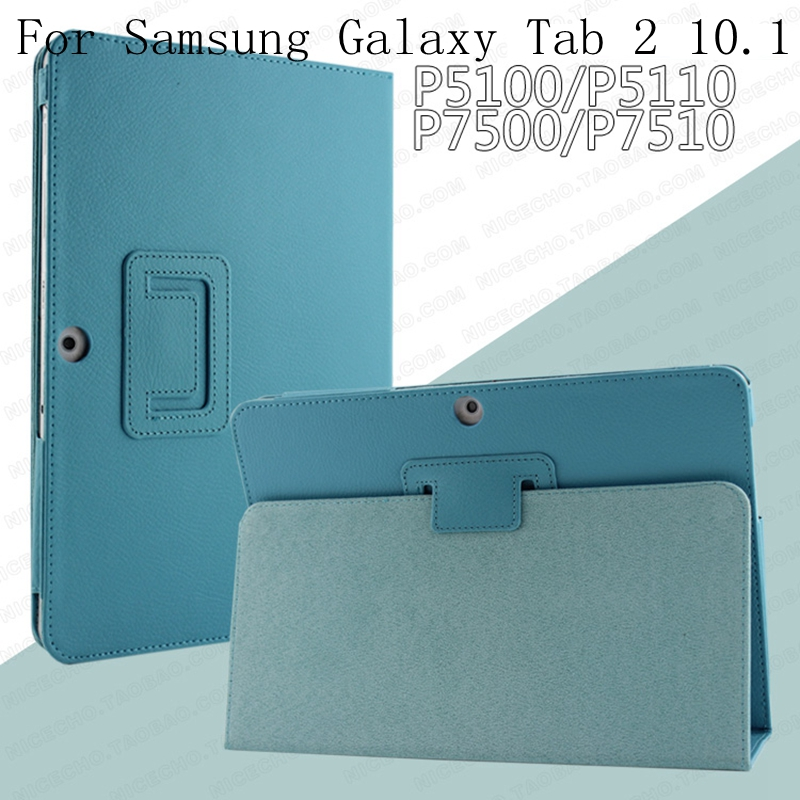for <font><b>Samsung</b></font> Galaxy Tab 2 10.1 inch GT-<font><b>P5100</b></font> P5110 P5113 Tablet Case Leather PU Stand Folio Put Protective Skin Cover image
