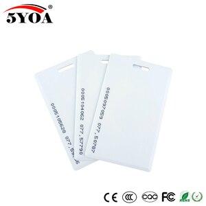 Image 1 - 5YOA 50pcs 5YOA 1.8mm EM4100 125khz Keyfob RFID Tag Tags Access Control Card  Key Fob Token Ring Proximity Chip