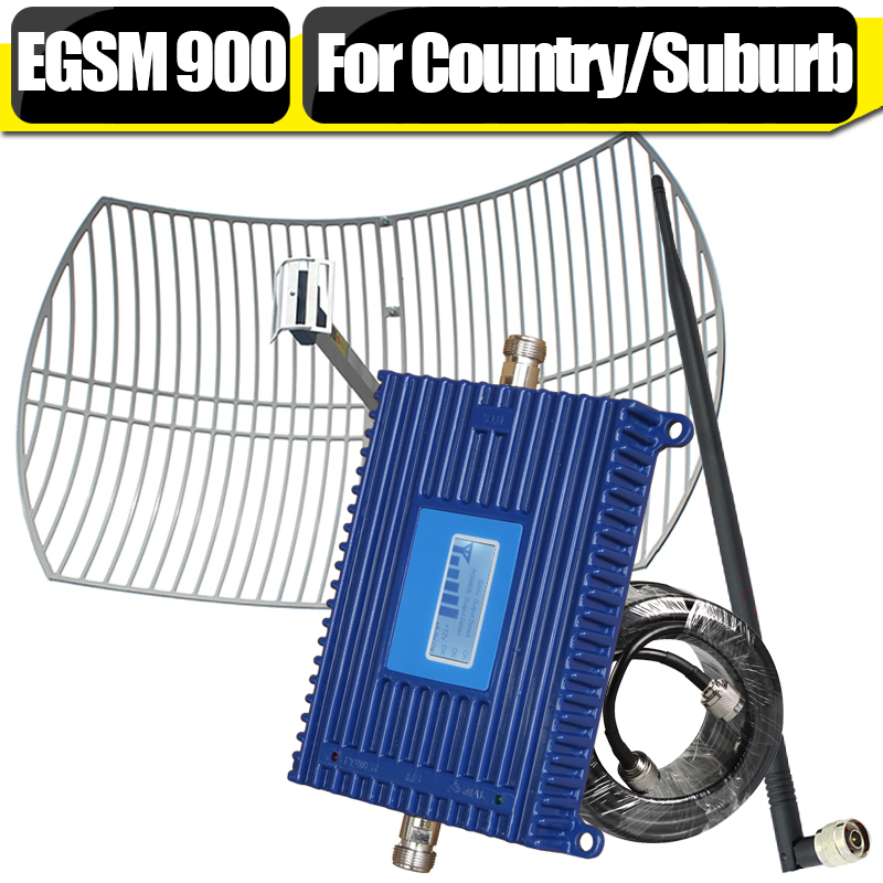 For Countryside 2G EGSM 900 Mobile Phone Signal Repeater LCD Display EGSM 900mhz Cellphone Cellular Booster Amplifier Antenna