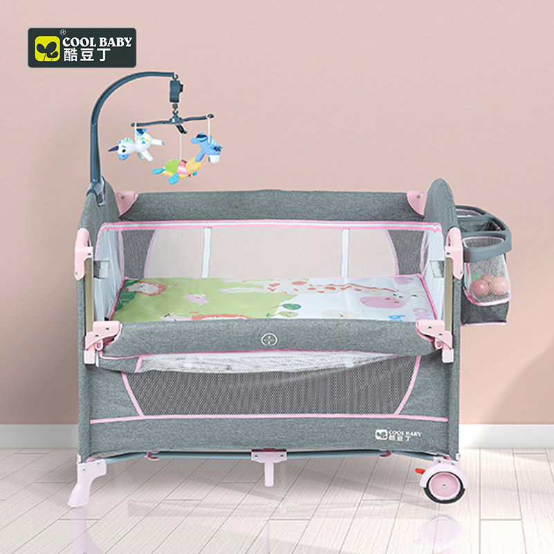 Coolbaby 960F Baby Bed With Fence Baby Cot High Quality Foldable Easy To Carry