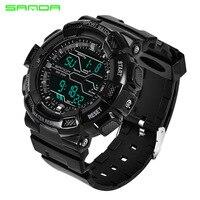 Men Watches Sport Luxury SANDA Brand Men S Military Sports Watches Digital LED Electronic Man Wristwatches