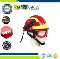 Workplace Fire Protection Hard Hat With Headlamp & Goggles Safety Rescue Helmet Fire Fighter Protective Glasses Safety Helmets