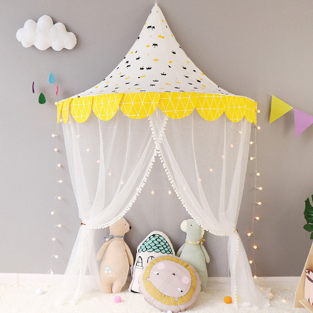 Kids Teepee Toy Tents Children Play Tent Portable Crib Tent Baby