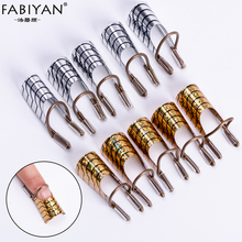 10pcs /2 Set Reusable Dual Gold Silver Form Nail Art Making C Curve Acrylic Gel UV French Tips Tool Manicure DIY Extension Guide