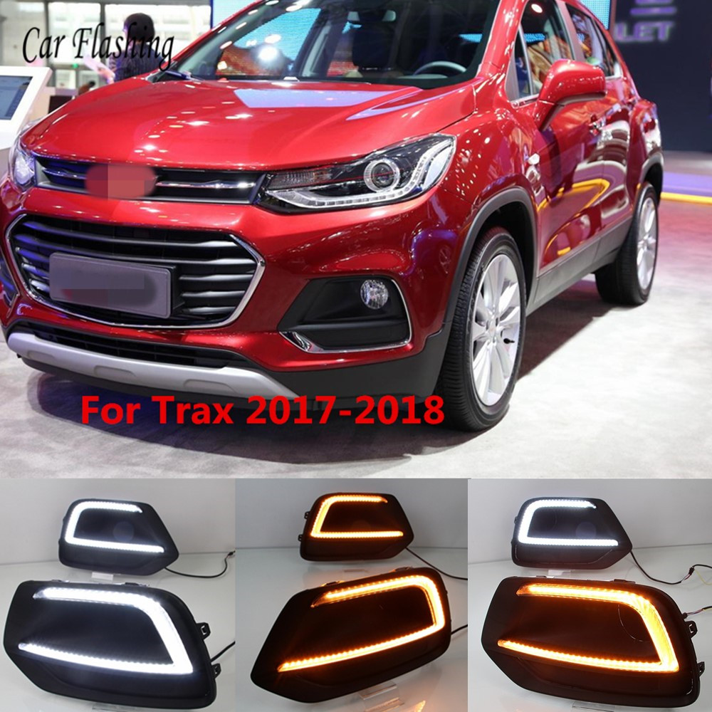 Car Flashing For Chevrolet Chevy TRAX 2017 2018 LED DRL Driving Daytime Running Light lamp Relay