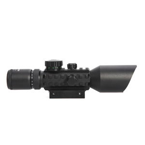 Image 2 - LUGER M9 3 10x42EG Tactical Optics Reflex Sight Riflescope Picatinny Weaver Mount Red Green Dot Hunting Scopes With Red Laser