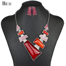 MS1504137 Moda Marca Sistemas de la Joyería de Plata Plateado Rojo Joyería de La Boda Regalos Del Partido Único Del Diseño Conjuntos de Collar de Alta Calidad