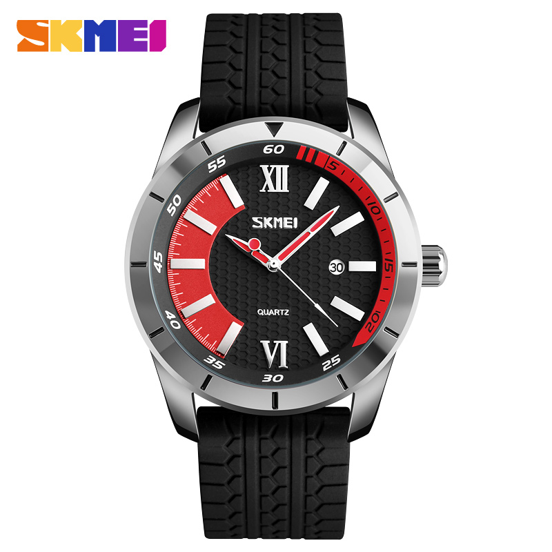 SKMEI Sports Quartz Watches Men Fashion Casual 30M Water Resistant Watch Silicone Strap Wristwatches Relogio Masculino 9151 skmei 9058 fashion men watches water resistant dress watch analog display quartz wristwatches