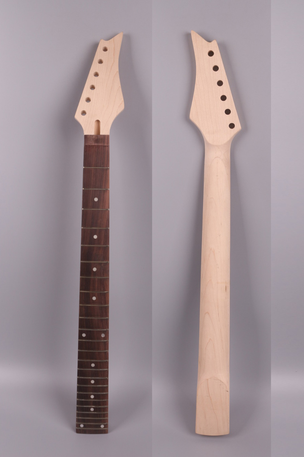 Electric guitar neck 24 fret 25.5 inch solid wood Fretboard tree inlaid Rosewood Fretboard Bolt On Canada Maple 022 wholesale cnbald 6 string guitar fdr str electric guitar rosewood fretboard 3 pickups in cream 130516