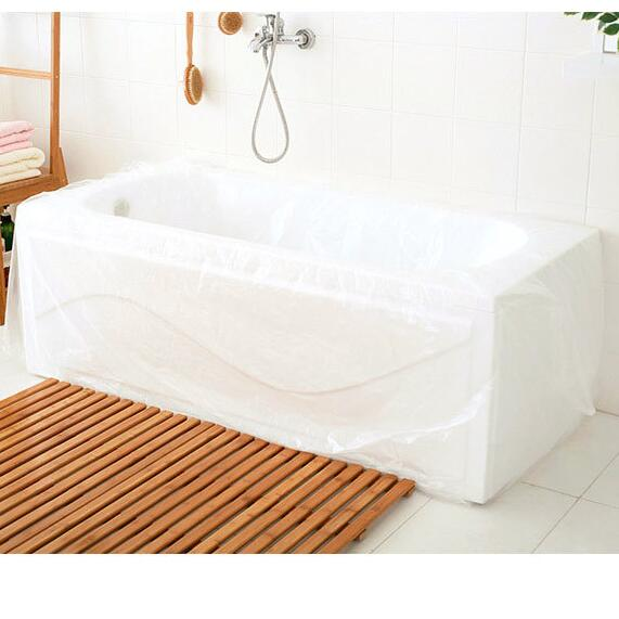 10PCS Large Disposable Travel Bathtub Cover Folding Inflatable Adults Bath Tub Bag Baby Swimming Plastic Bag Baby Bath Tub Cover