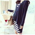 New Fashion Maternity Dress Clothes For Pregnant Women Casual All-Match Striped Cotton Clothing Maternity Dresses 307